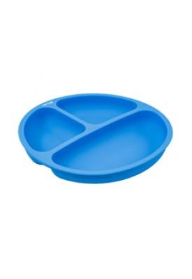 Prato em Silicone com Divisoria Azul - Clingo