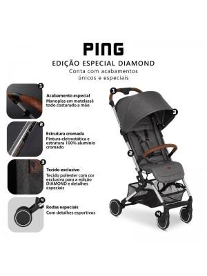 Carrinho de Bebê Ping Diamante Asphalt - ABC Design