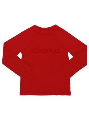Camisa Manga Longa Vermelho  Com FPU 50+ - Eco Kids Place