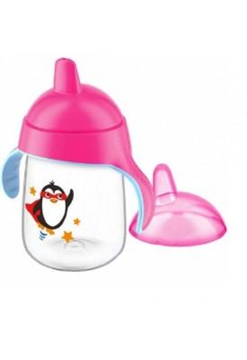 Copo Pinguim Bico Rigido Rosa 340Ml - Avent