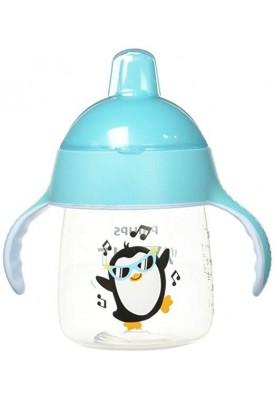 Copo Pinguim Bico Rigido Azul 260Ml - Avent