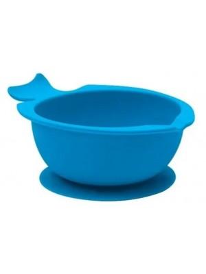 Bowl De Silicone C/ Ventosa Azul Ou Rosa - Buba