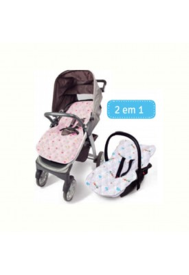 Capa Para Bebê Conforto E Carrinho Estampada - Papi