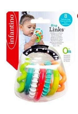 Chocalho Interativo Anéis C/ Texturas - Infantino