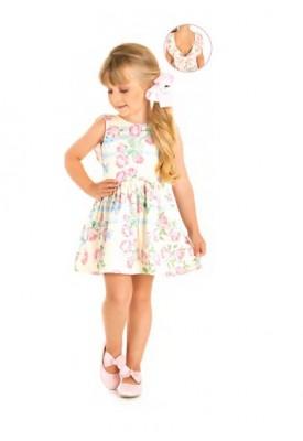 Vestido Tecido Flores - Bygus