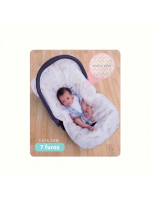 Capa Para Bebe Conforto Acolchoada Dupla Face - Papi