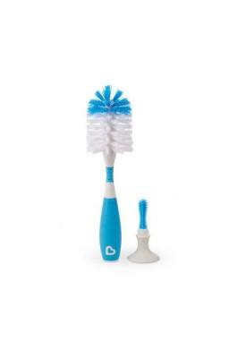 Escova De Mamadeira com Ventosa E Cabo Flexível Azul Munchkin