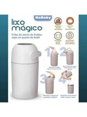 Lixeira Mágica Anti Odor Branco - Kababy