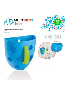 Organizador Para Banho Super Scoop Azul - Multikids