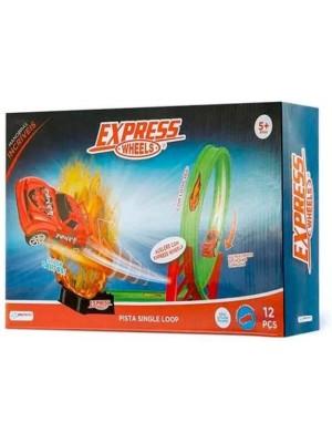 Pista Single Loop Racer Set 12 Pçs - Multikids