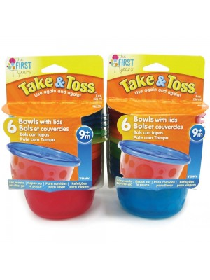 Kit 6 Potes Infantis com Tampa 133ml - The First Years