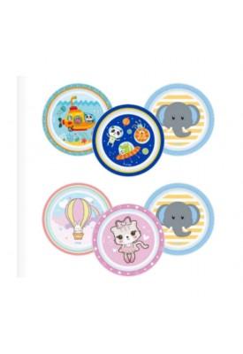 Kit 3 Pratos Infantis - Clingo