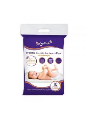 Protetor Descartável De Colchão Com10 Un - Baby Bath