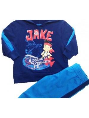 Conjunto Moletom Disney Menino 2 Peças Jake Azul Marinho Com Capuz Fechado