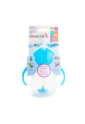 Copo Treinamento Com Canudo Click Lock Azul Munchkin