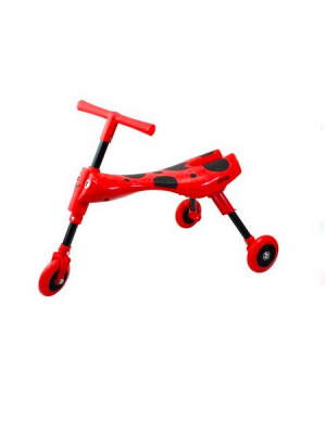Triciclo Infantil Dobrável Vermelho/Preto - Clingo