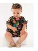 Macaquinho Manga Curta Estampado Floral - up baby