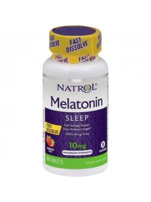 Melatonina 10mg Fast Dissolve (Rápida Dissolução) 60 cap - Natrol