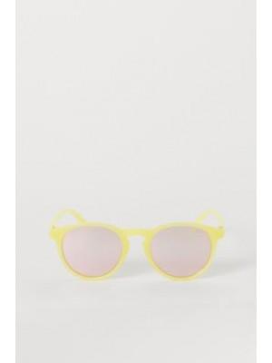 Óculos De Sol Amarelo Espelhado - H&M