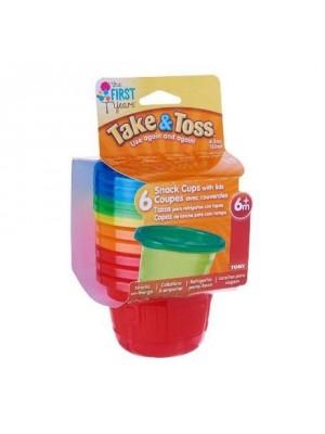 Kit 6 Potes Infantil Com Tampa 236