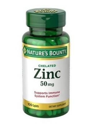 Zinco 50Mg 100 Cápsulas - Nature'S Bounty